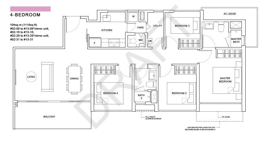 The-Criterion-EC-Floor Plan the criterion The Criterion EC | Showflat Hotline +65 6100 7122 | Yishun EC 4 Bedroom