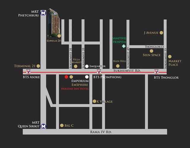 Circle Sukhumvit -31 Location Map circle sukhumvit 31 Circle Sukhumvit 31 | Showflat Hotline +65 97555202 | Bangkok Circle Sukhumvit 31 Location Map