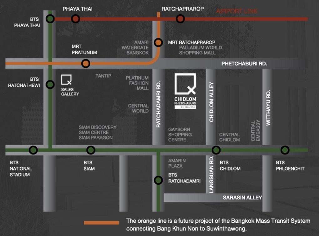 Ideo Q Chidlom Phetchaburi Location Map q chidlom Ideo Q Chidlom Phetchaburi | Showflat Hotline +65 97555202 Ideo Q Chidlom Phetchaburi Location Map