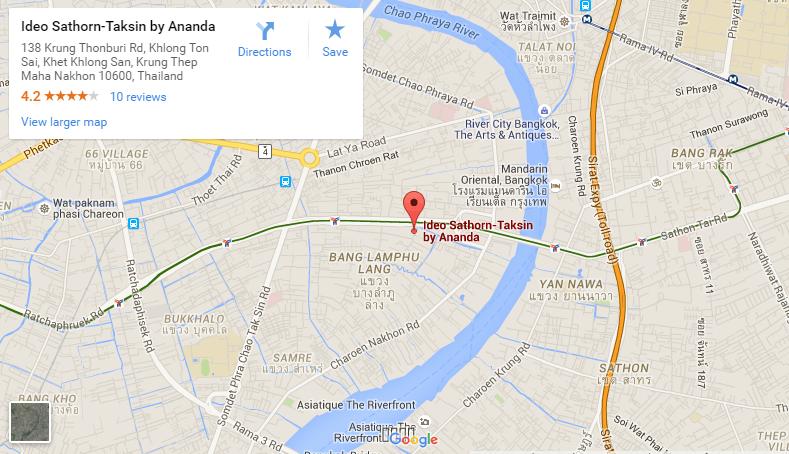 Ideo Sathorn Thaphra google map ideo sathorn thaphra Ideo Sathorn Thaphra | Showflat Hotline +65 97555202 | Bangkok Ideo Sathorn Thaphra google map