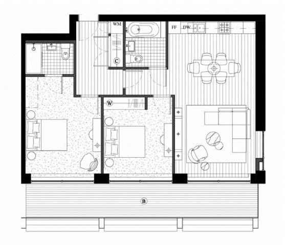 Royal Wharf 2 Bedroom Floor Plan