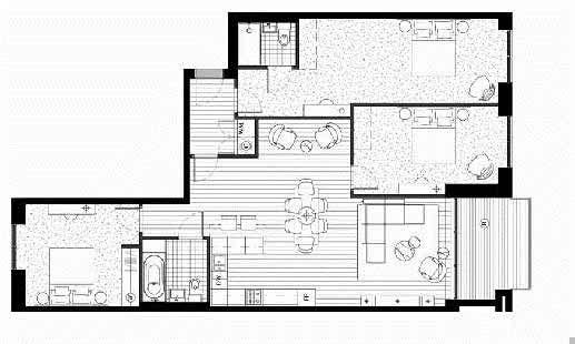 Royal Wharf Phase 2, 3 Bedroom Floor Plan