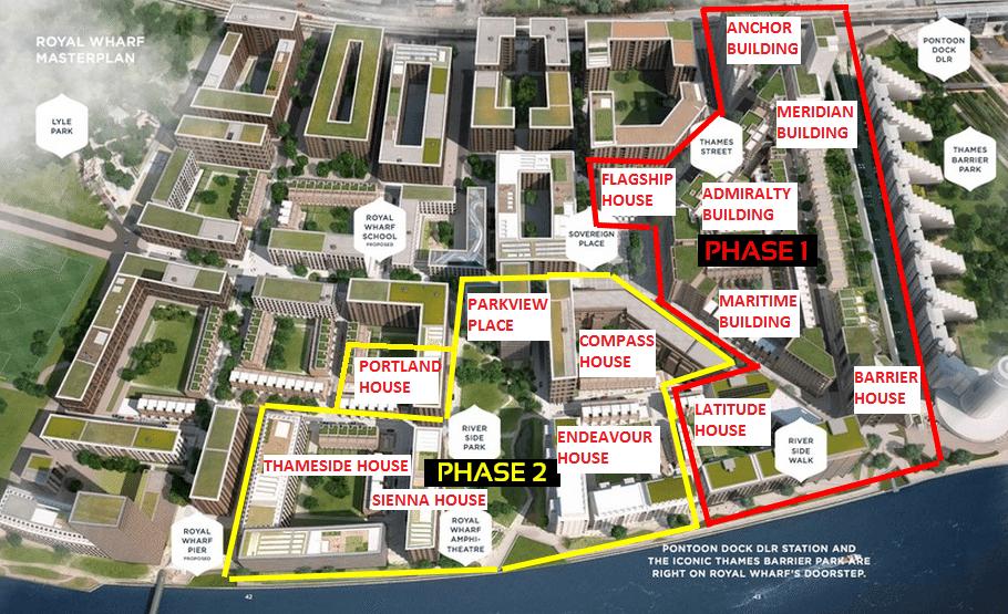 Royal Wharf Phase Two Site Plan royal wharf phase 2 Royal Wharf Phase 2 | Showflat Hotline +65 97555202 | London Property Royal Wharf Phase Two Site Plan
