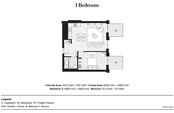 Royal Wharf Portland 1 Bedroom Floor Plan royal wharf portland house Royal Wharf Portland House| Hotline +65 97555202 | 1rm fr $373,000 Royal Wharf Portland 1 Bedroom Floor Plan