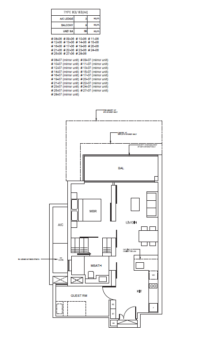Cairnhill Nine 1 Bedroom+ Guest Room Floor Plan cairnhill nine Cairnhill Nine | Showflat Hotline +65 6100 7122 | Best of Cairnhill Cairnhill Nine 1 Bedroom Guest Room Floor Plan