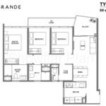 Lake Grande Floor Plan 3 Bedroom Type C3