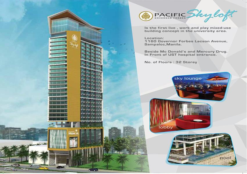 Pacific Skyloft Facade pacific skyloft manila Pacific Skyloft Manila | Showflat Hotline +65 6100 7122 Pacific Skyloft Facade