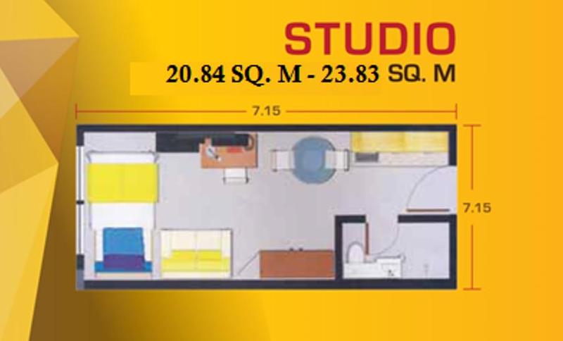 Pacific Skyloft Floor Plan Studio pacific skyloft manila Pacific Skyloft Manila | Showflat Hotline +65 6100 7122 Pacific Skyloft Floor Plan Studio