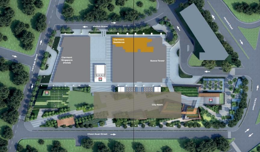Wallich Residence Site Plan