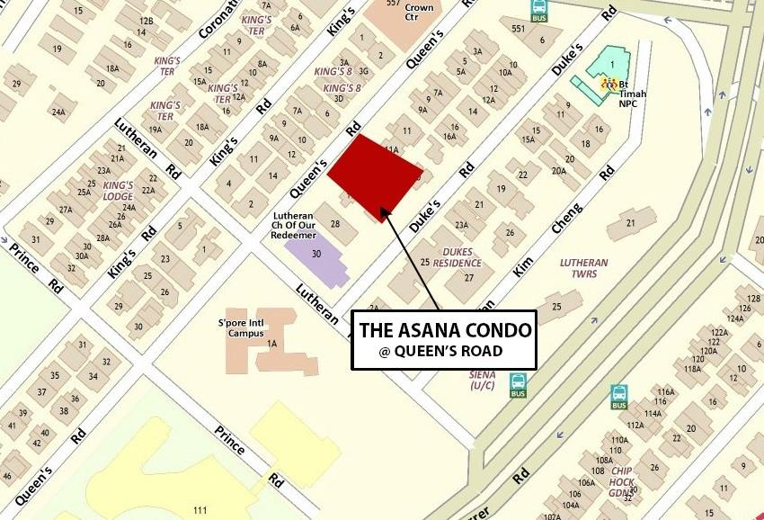 The Asana Location Map the asana The Asana | Showflat Hotline +65 61007122 | 1km to ACS The Asana Location Map