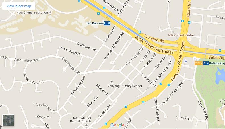 The Asana google map the asana The Asana | Showflat Hotline +65 61007122 | 1km to ACS The Asana google map