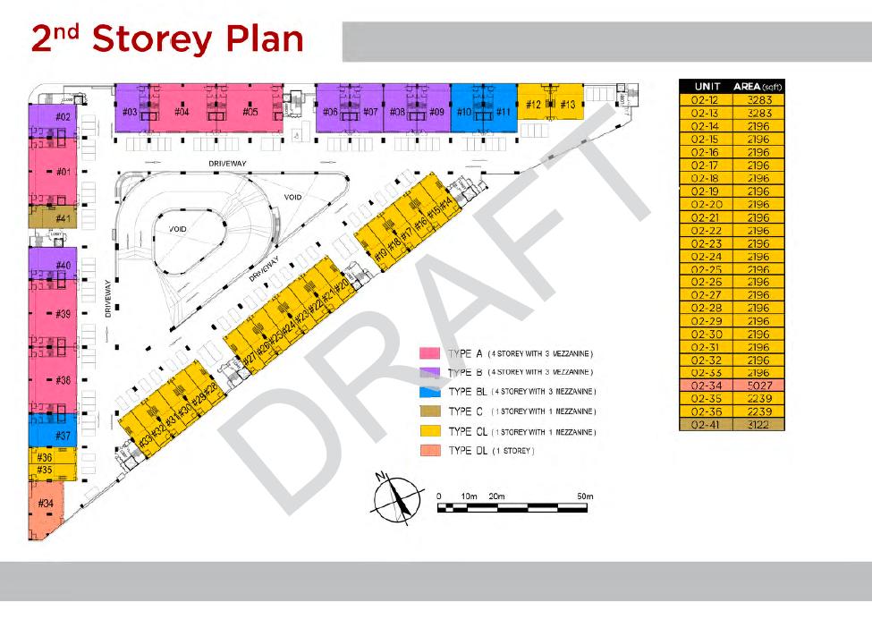 T Space Tampines 2nd Storey Floor Plan