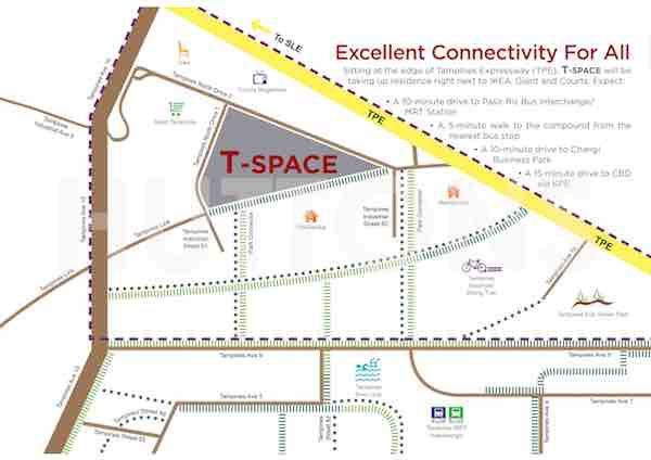 T Space Tampines Location Map