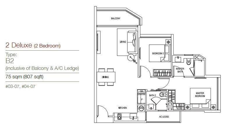 The Maison Floor Plan (4) the maisons The Maisons | Showflat Hotline +65 61007122 The Maison Floor Plan 4
