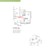 northwave executive condo 2 bedrooms floor plan
