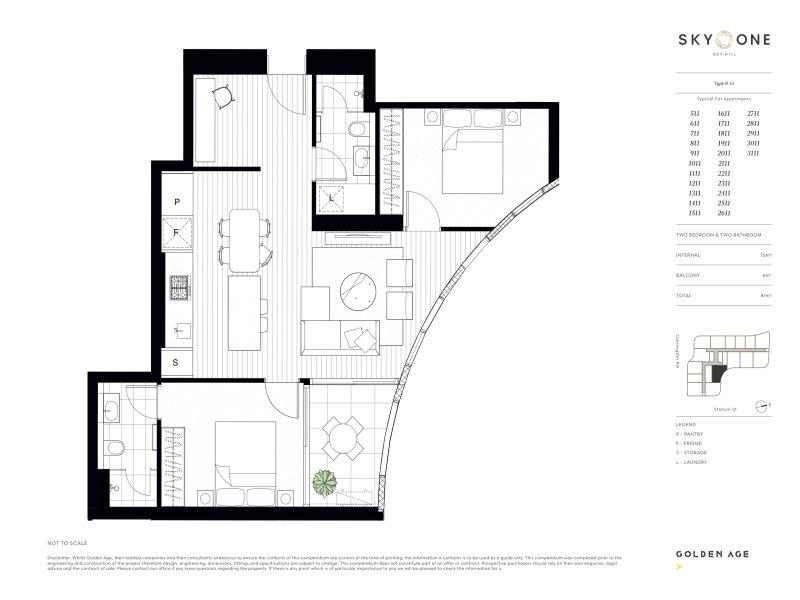 floor plan sky one Sky One | Showflat Hotline +65 6100 7122 | Box Hill floor plan