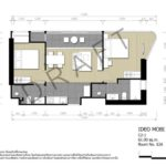 ideo mobi asoke floorplan 2 bedroom