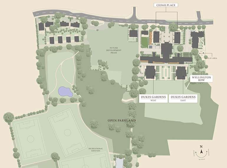 wimbledon hill park site plan