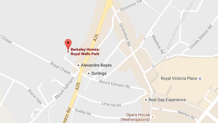 google map royal wells park kent Royal Wells Park Kent | Showflat Hotline +65 97555202 | Prime London Property google Map 3
