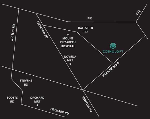 City Suites location map