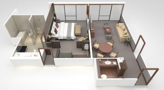 city suites floor plan