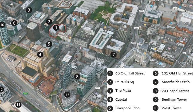 60 Old Hall Street location map