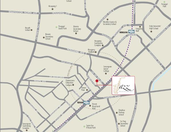 Jazz Residences location map