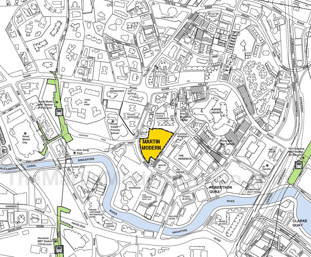 Martin Modern showflat Location Plan