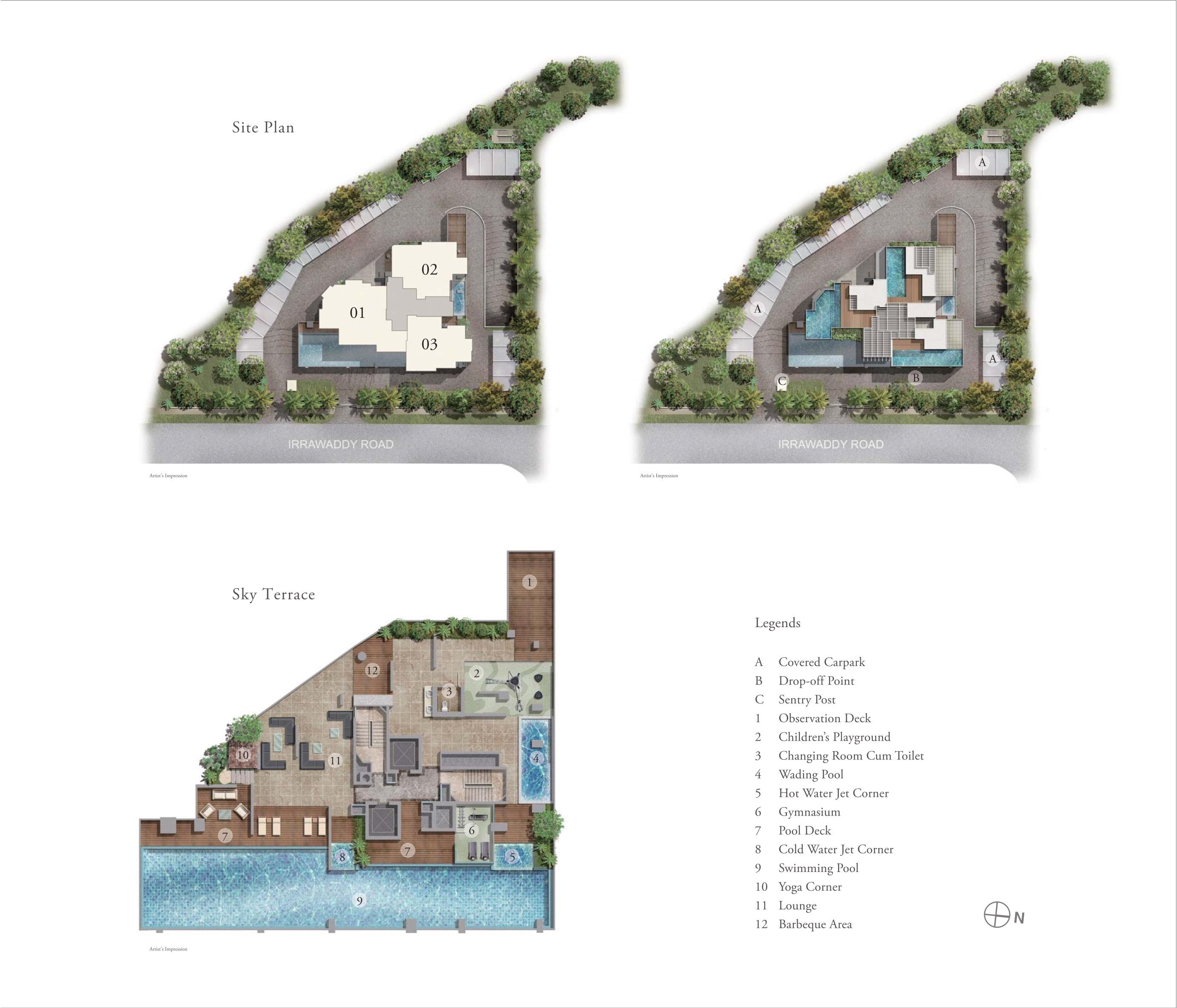 i residences site plan
