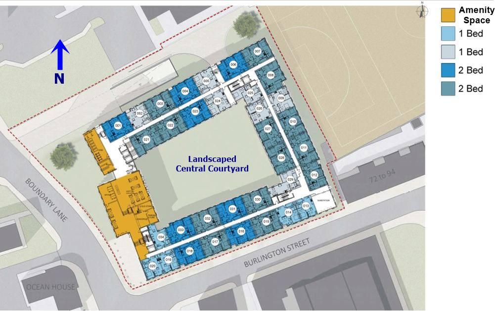 Burlington Square Manchester site plan