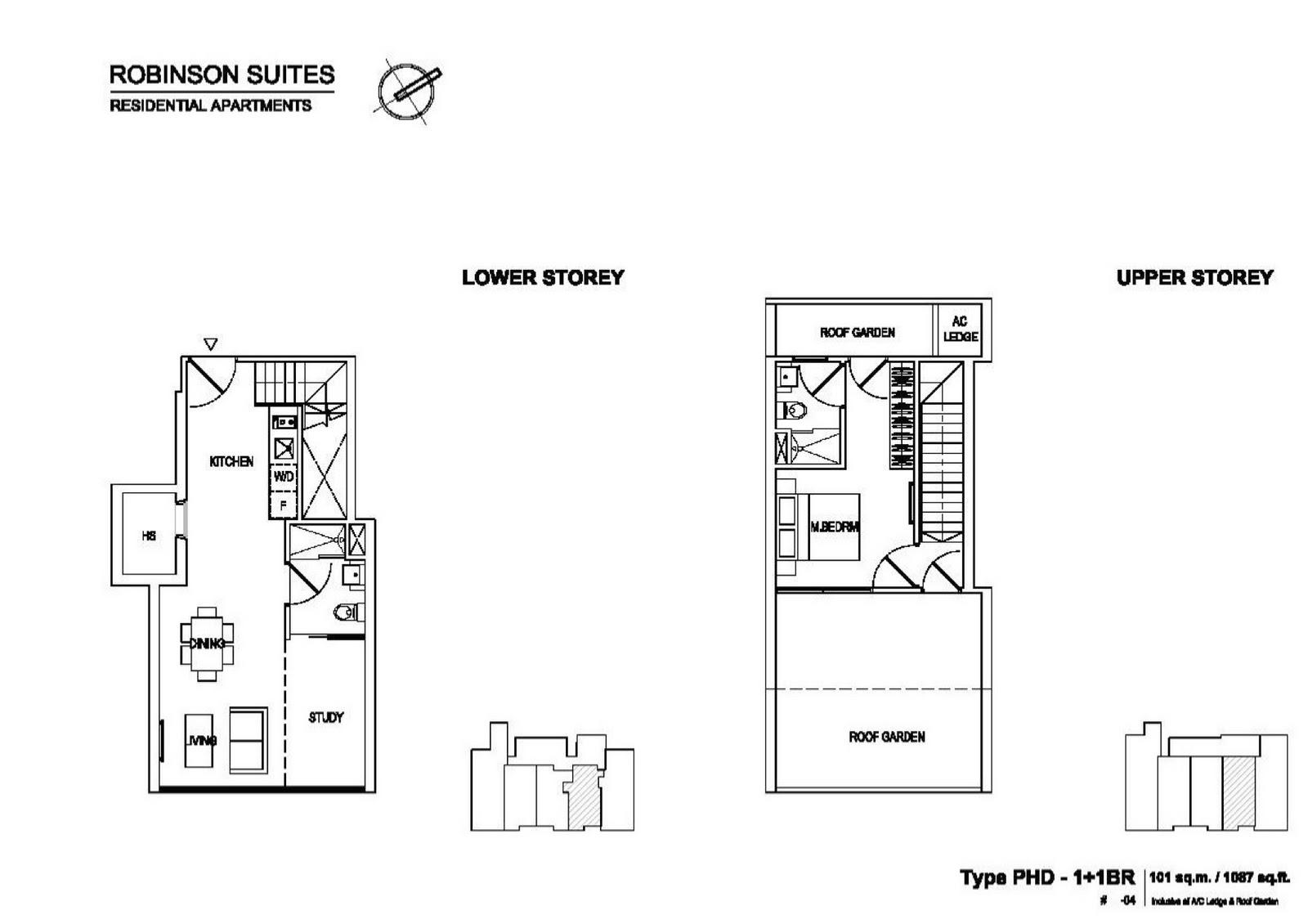 Robinson Suites Floor Plan Type PHD