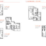 V on Shenton 2 Bedrooms Study Floor Plans