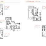 V on Shenton 2 Bedrooms Study Floor Plans
