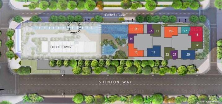 V on Shenton Site Map