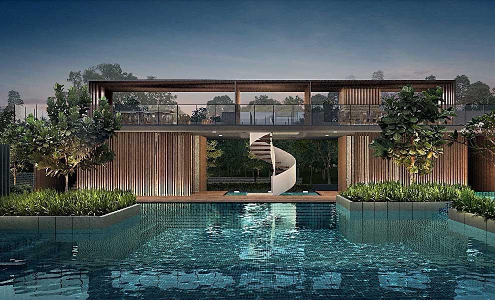 Kandis Residence swming pool view