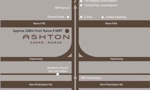 ashton asoke rama 9 location-map