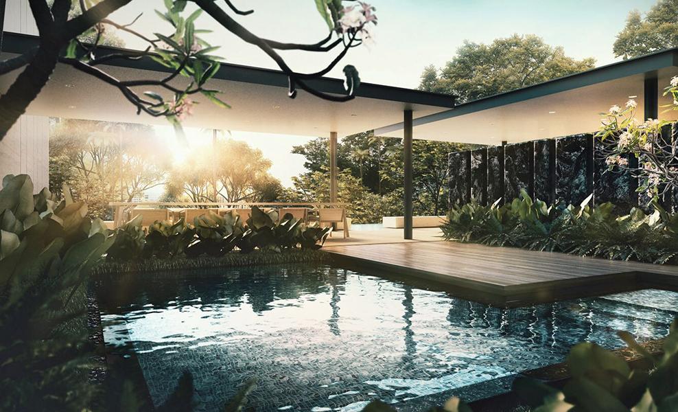 amber 45 pool view