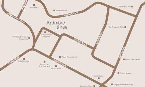 Ardmore 3 Location Map