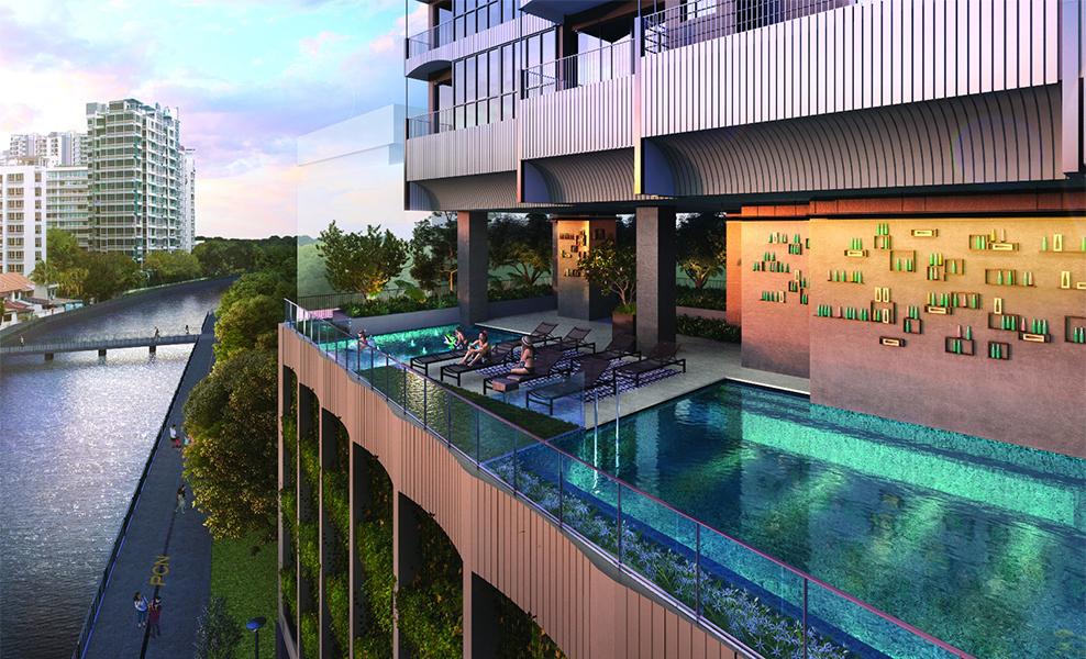 Jui Residences pool view