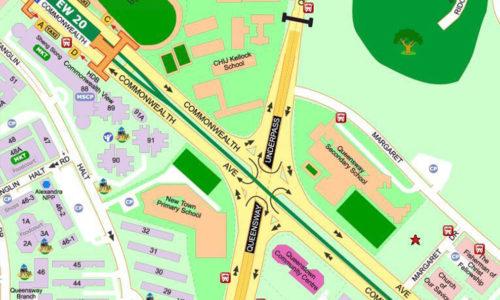 Margaret Drive New Condo showflat map