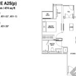 Tapestry tampines CDL 1 bedroom-and-ensuite-floor-plan