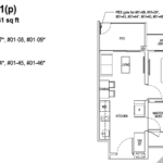 Tapestry tampines CDL 1 bedroom floor plan