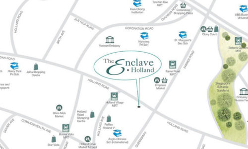 The Enclave Holland Map
