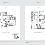 33 Residences 2br type e floor plan