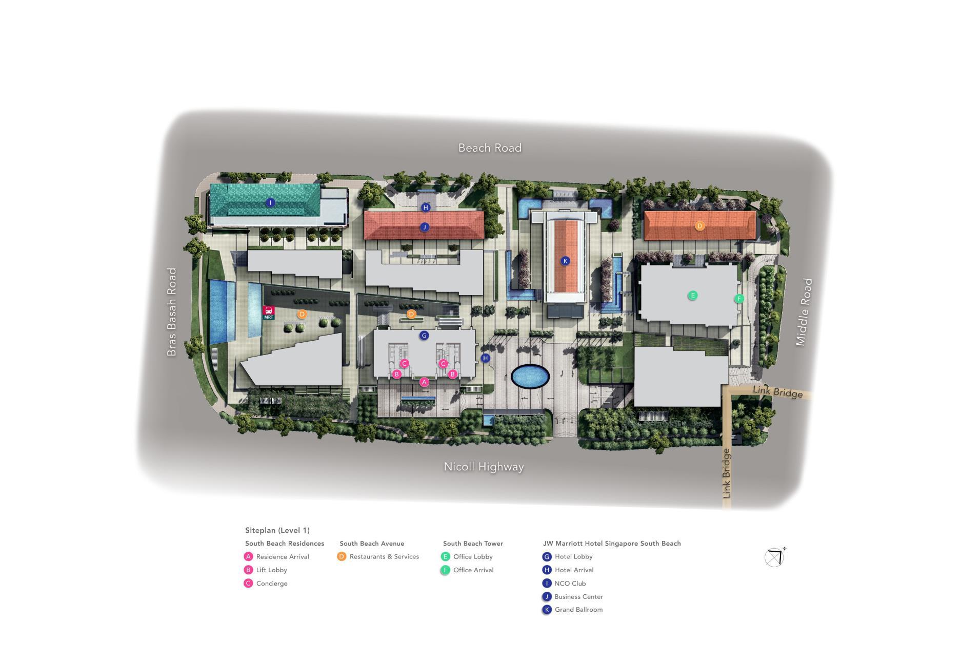 South beach residences site map