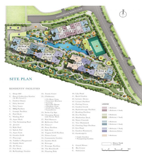 The Garden Residences Site Plan
