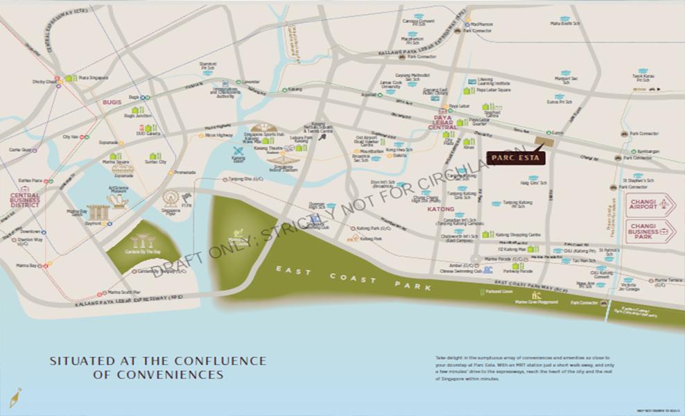 Parc Esta Location Map