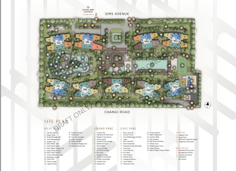 Parc Esta SITE MAP