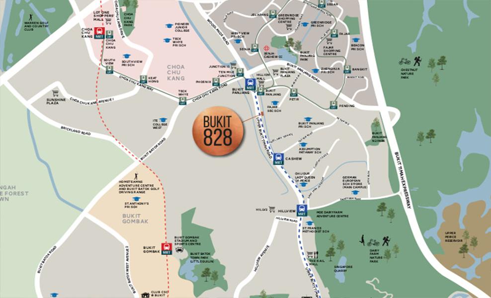 Bukit 828 Location