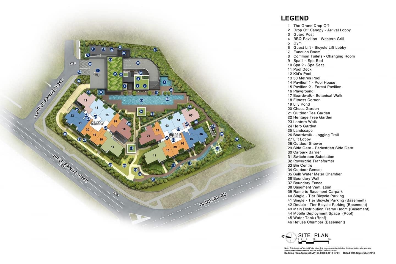 Mayfair Modern Site plan
